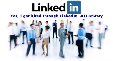 Hired through linkedin